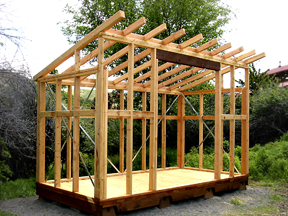 Discount outdoor storage sheds woodworking plans computer for How to build a sloped roof shed